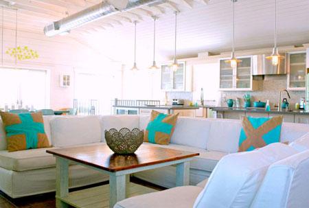 دکوراسیون پر انرژی خانه,دکوراسیون سفید و آبی خانه