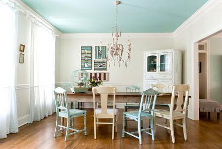 کاربرد رنگ آبی در خانه, چیدمان رنگ آبی در خانه