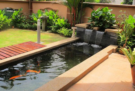 for Concrete fish pond construction and design