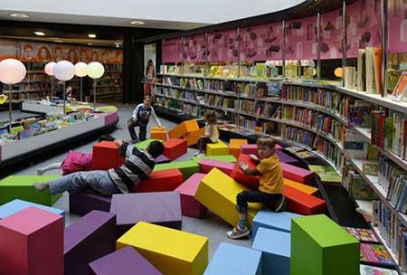شیک ترین کتابخانه کودکان,مدل کتابخانه کودکان