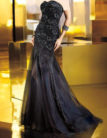 مدل بسیار زیبای لباس شب عروس شیک و زیبا