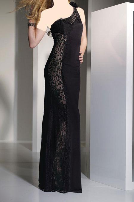 مدل های لباس شب مشکی 2014