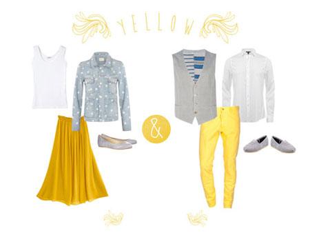 راهنمای انتخاب لباس زرد, انتخاب لباس زرد