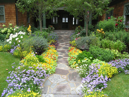 سنگ فرش باغ, دکوراسیون باغ و باغچه