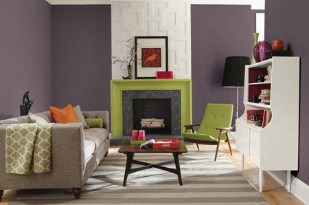 تصاویر دکوراسیون بنفش, استفاده از رنگ بنفش در خانه