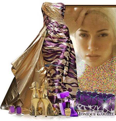 ست کردن لباس شب به سبک جنیفر لوپز Jenifer Lopez