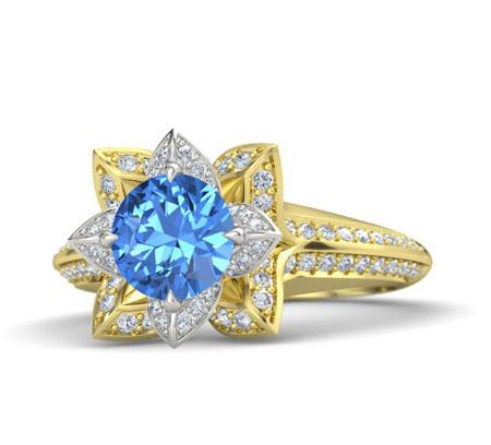 مدل انگشتر توپاز آبی, مدل انگشتر زنانه