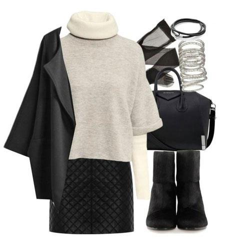 پوشش لباس با یقه اسکی, ست لباس زمستانی