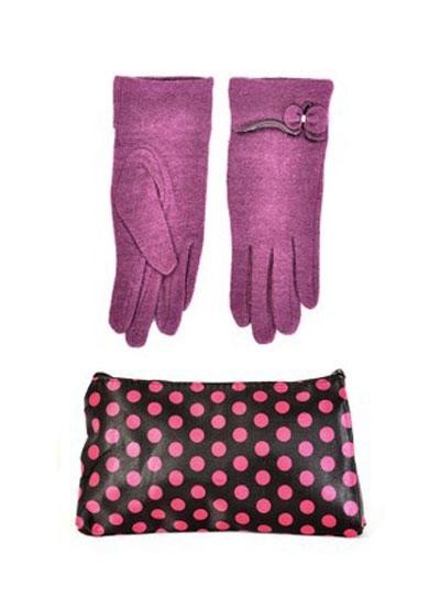 mo16895 مدل ست دستکش و کیف زمستانی