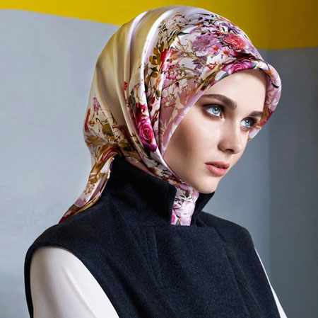مدل روسری ساتن ترک,مدل روسری Aker