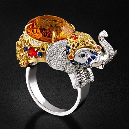 انگشتر به شکل حیوانات,مدل انگشتر طلا