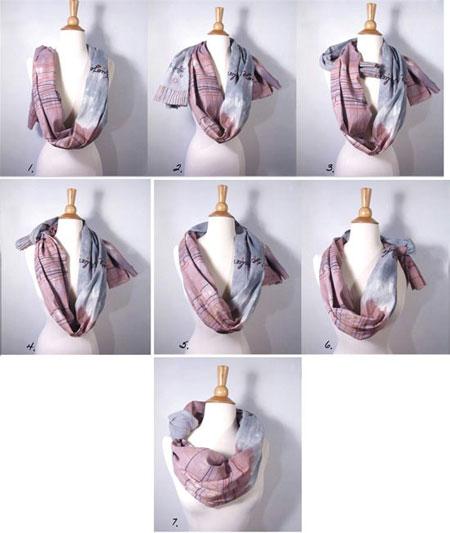 روش های بستن شال,آموزش بستن شال و روسری