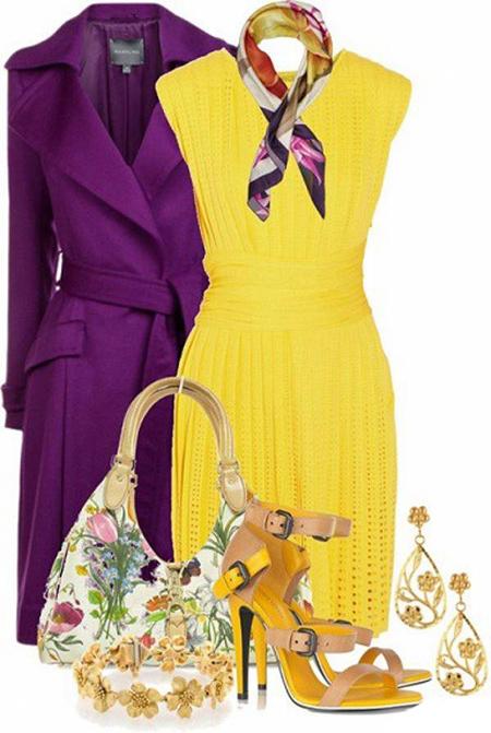 ست کردن لباس ها,ست کردن رنگ لباس ها