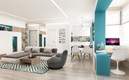 طراحی بی نظیر یک خانه 50 متری + عکس