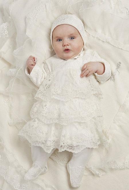 لباس سفید نوزاد, ست لباس سفید نوزاد