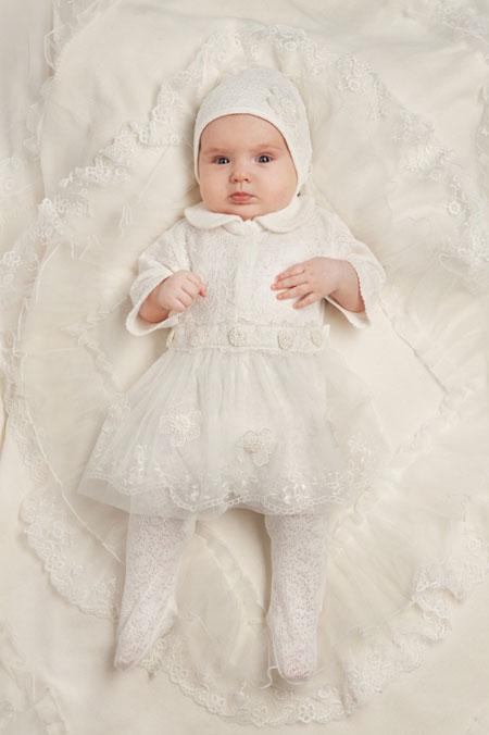 مدل سرهمی های مجلسی نوزادی,لباس سفید نوزاد