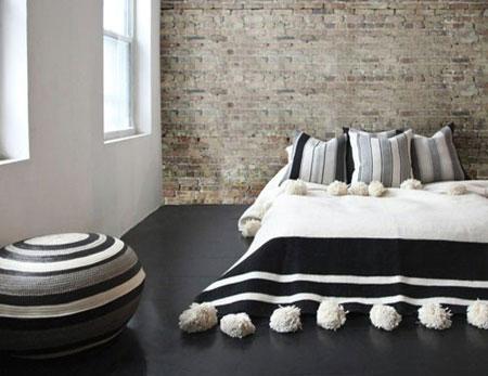 دکور خانه با جاجیم های سیاه و سفید,دکوراسیون خانه با جاجیم های سیاه و سفید