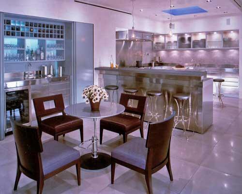 آشپزخانه زرشکی و بنفش