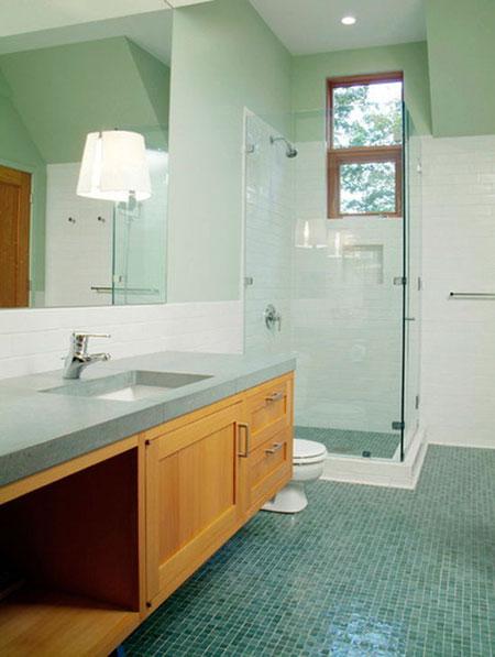 مدل کف پوش های حمام,کف پوش های طبیعت دوست در حمام