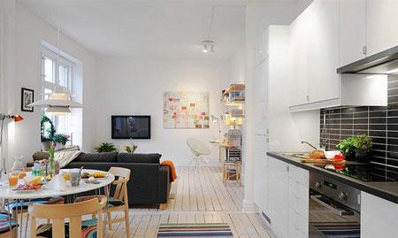 شیک ترین چیدمان خانه های کوچک,طراحی فضاهای کوچک