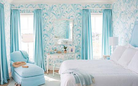 بهترین رنگ ها در دکوراسیون,تاثیر رنگ آبی کم رنگ در دکوراسیون خانه