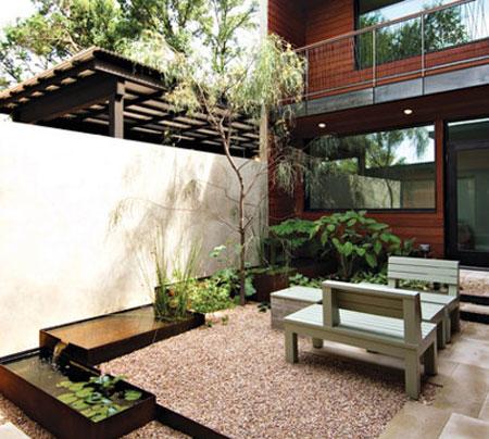 شیک ترین طراحی های باغچه حیاط کوچک،تزیین باغچه کوچک