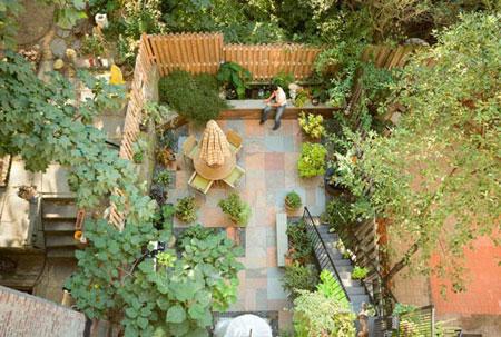 طراحی حیاط های خلوت،دکوراسیون باغچه کوچک