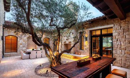 دکوراسیون فضای بیرونی و باغچه,طراحی جذاب دکوراسیون فضای بیرونی خانه