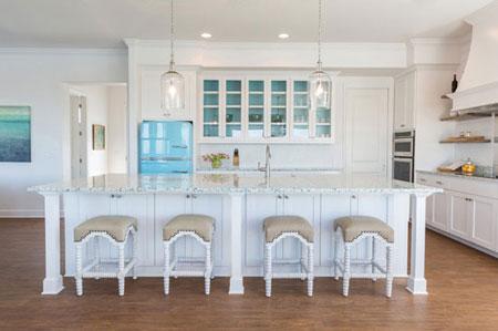 طراحی داخلی آشپزخانه,طراحی و دکوراسیون آشپزخانه,ک نت های آشپزخانه های سفید