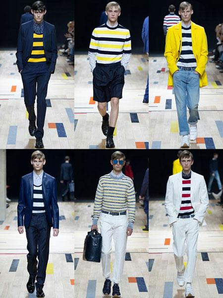 لباس مد بهار 2015,لباس های راه راه مردانه