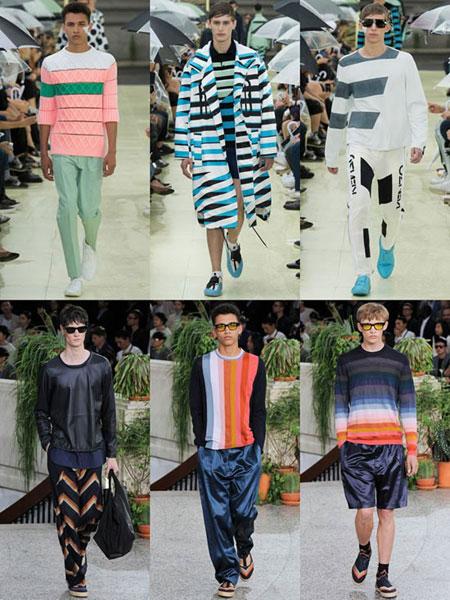 لباس های راه راه با برندهای مختلف,لباس مد بهار 2015