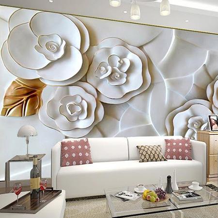 طرح کاغذ دیواری های شلوغ,کاغذ دیواری های مدرن و گلدار