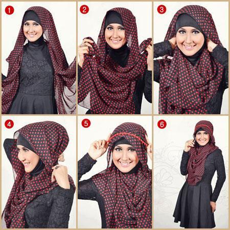 آموزش بستن روسری و شال,آموزش بستن شال و روسری,آموزش بستن شال و روسری ایرانی