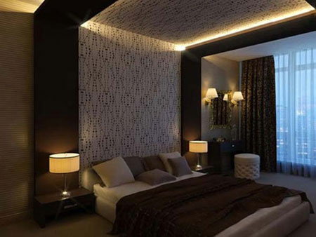 عکس نور پردازی اتاق خواب,نور پردازی مدرن اتاق خواب,نور اتاق خواب