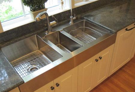 انتخاب شیک ترین سینک های آشپزخانه,آشنایی با معایب و مزایای انواع سینک ها