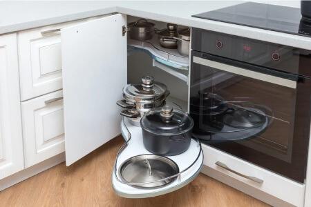کابینت گوشه آشپزخانه,کابینت های کاربردی آشپزخانه