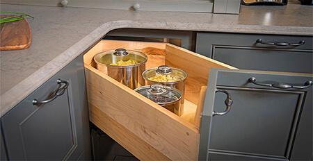 طراحی کاربردی ترین مدل کابینت, طراحی کابینت های گوشه