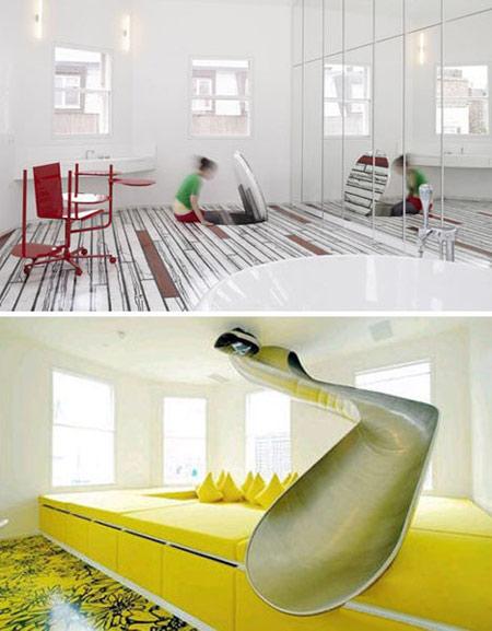 سرسره های زیبا در خانه,طراحی سرسره در خانه