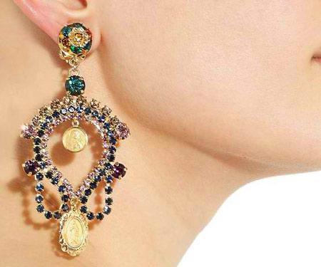 مدل طلا و جواهرات هندی, گوشواره های جواهر هندی
