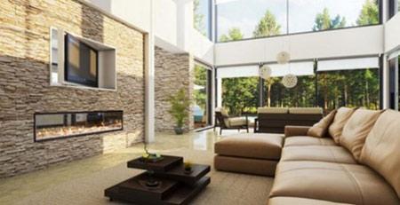 ایده برای دیوارهای سنگی در اتاق نشیمن,مدل دیوارهای سنگی اتاق نشیمن