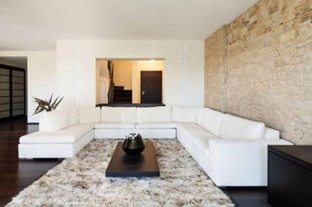 دکوراسیون سنگی اتاق نشیمن, طراحی دیوارهای سنگی