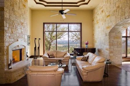 کاربرد دیوارهای سنگی در خانه, طراحی داخلی دیوارهای سنگی