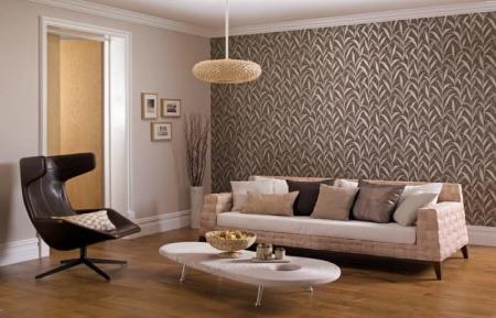 نحوه انتخاب کاغذ دیواری, طراحی فضاهای داخلی