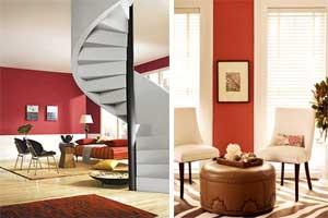 ایده هایی برای تزیین منزل با رنگهای گرم