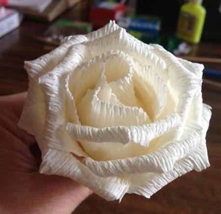 درست کردن گل با کاغذ کشی,آموزش گل سازی