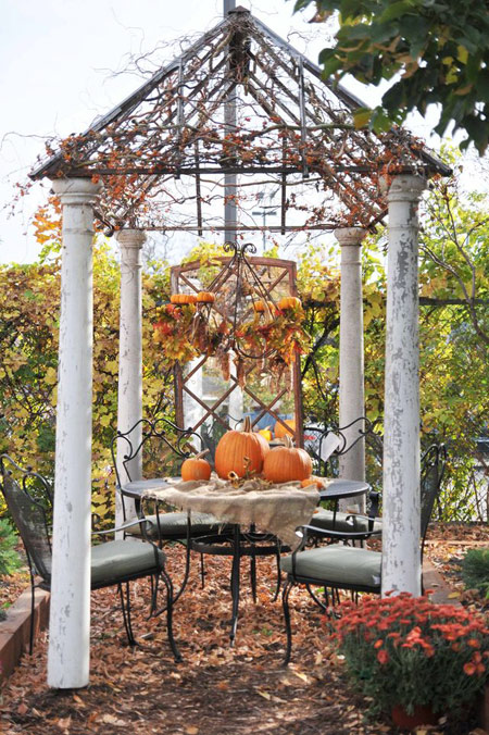دکوراسیون پاییزی محوطه بیرونی,تزیین پاییزی حیاط