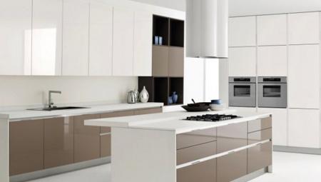 کابینت چوبی آشپزخانه,مدل کابینت هایگلاس