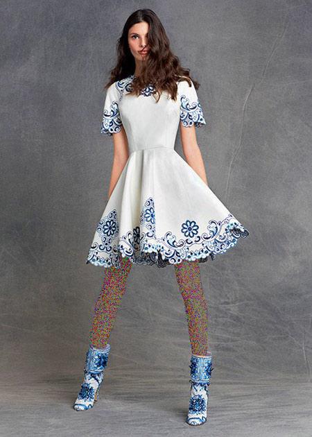 لباس زنانه دی اند جی,مدل بلوز و دامن زنانه
