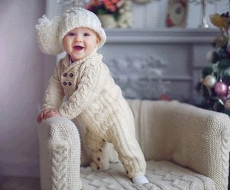 مدل لباس های بافت سرهمی نوزادی