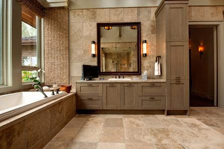 سنگ هایی با زیبایی ماندگار برای کف، دیوار و سطح کانتر حمام